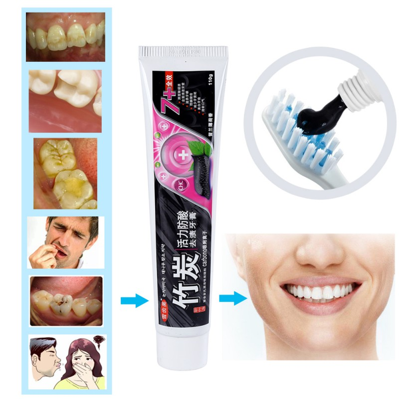 Bamboo Charcoal All-purpose Whitening The Black Toothpaste Teeth Whitening Oral Care Fresh Breath Dropshipping (ship From USA)