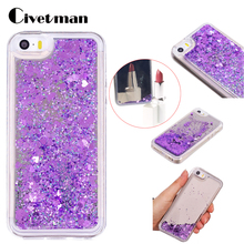 Cover Case For Apple iphone 5 5G 5S I5 IPHONE SE Mirror Dynamic Liquid Quicksand