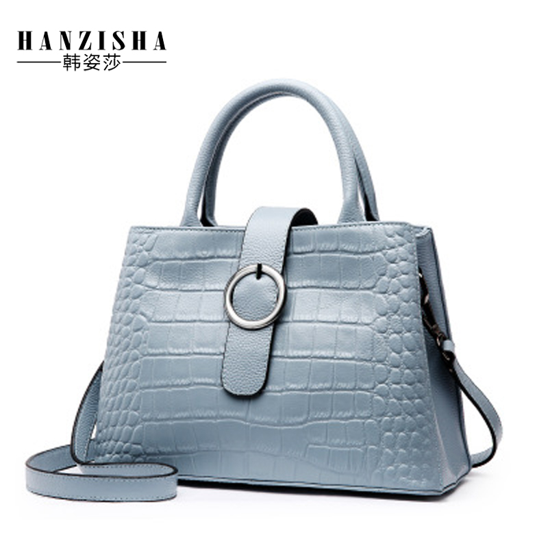 Fashion Brand Genuine Leather Women Bag Alligator Pattern Women Shoulder Bag Natural Skin Leather Women Handbag Female Tote Bag a5 a6 dokibook notebook macaron fine faux leather spiral notebook diary week agenda organizer planner notepad office stationery