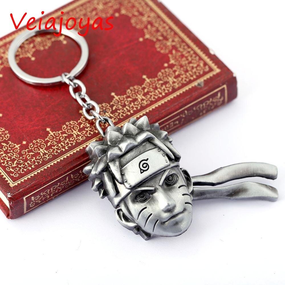 Hot Anime Naruto Key Chain Uzumaki Face Key Rings Gifts Chaveiro Car Keychain Men Jewelry Game Alloy Key Holder Souvenir Llavero