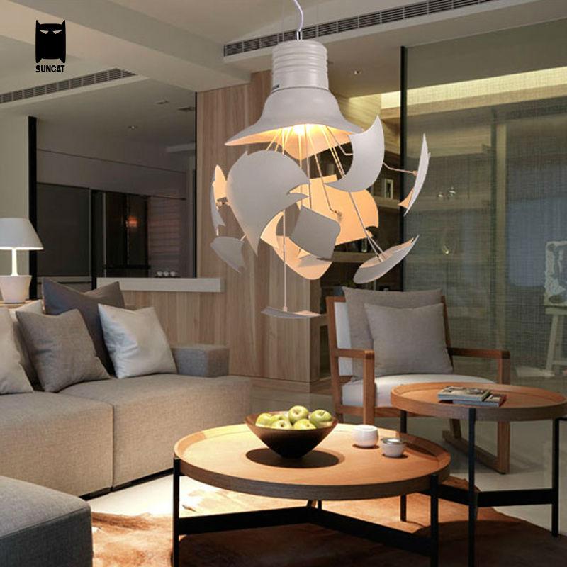 Blanc Cassé Grand Ampoule Pendentif Luminaire Moderne Nordique