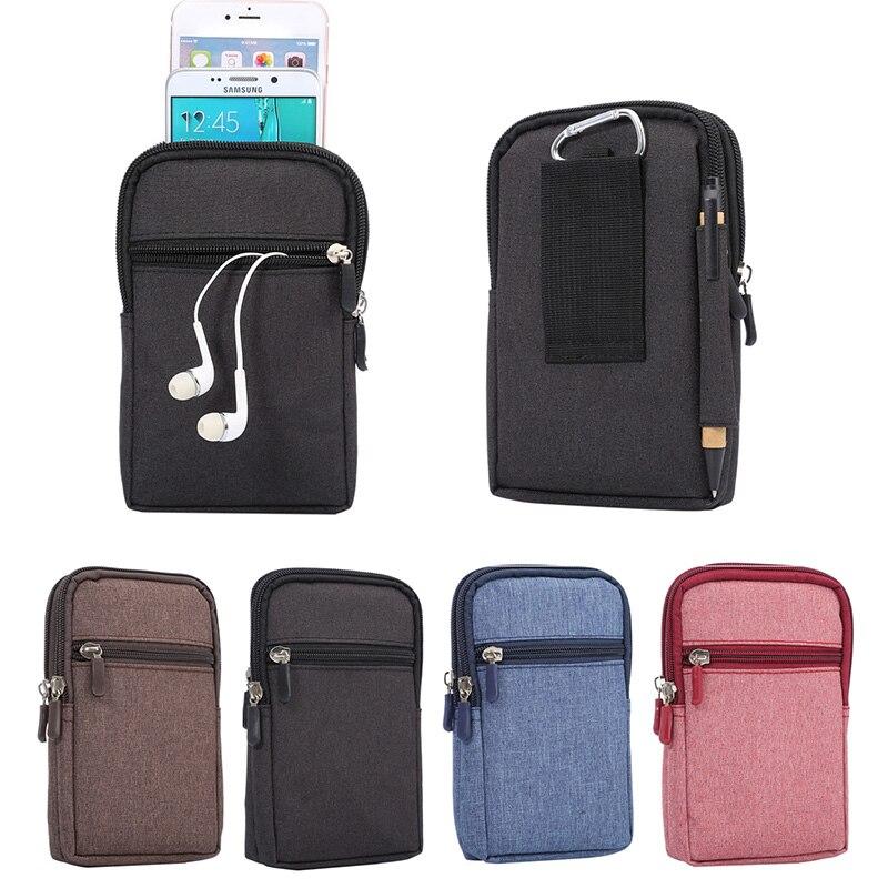 Smart Bag 2 Pocket with Belt Clip & Carabiner Universal Holster Phone Pouch Bag For Samsung Galaxy J5 J500 / J5 2016 J510