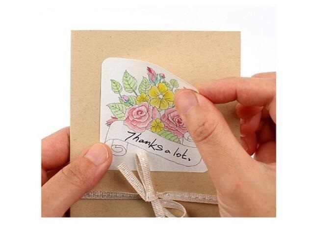 1 pack/lote Corea Vintage DIY juego de pegatinas para colorear etiqueta decorativa para estudiantes papelería material escolar de oficina