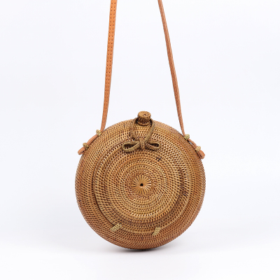 Spot Indonesia Bali women hand-woven bread straw bag Shoulder bag woven bag