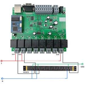 Image 2 - 스마트 홈 자동화 모듈 컨트롤러 네트워크 tcp ip 릴레이 제어 domotica 원격 app/pc 시스템 8 스위치 채널 8ch 센서