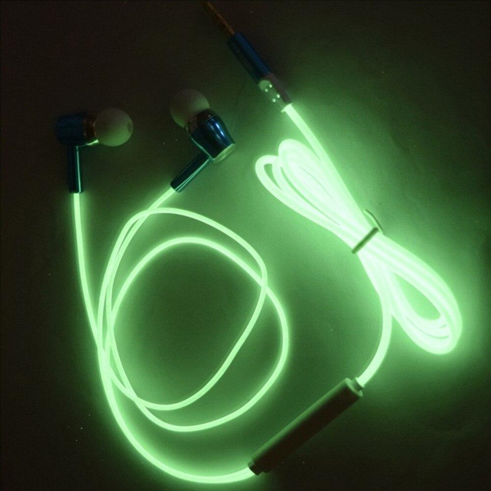 Fasion glow in the dark luminous fones de ouvido fone de ouvido fasion glow in the dark luminous fones de ouvido fone de ouvido estreo fones de ouvido para xiaomi iphone samsung fones de ouvido fones de ouvido esporte fandeluxe Images