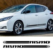 Лидер продаж, 1 пара, 2 шт., виниловые наклейки для автомобиля, боковой юбки, наклейки для автомобиля, полоски, обертывания, наклейки для тела, s для Nissan Nismo