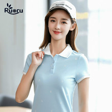 Ruoru Summer Brand Solid Polo Women Shirt Slim Short Sleeve Camisa Femme Casual Shirts Clothing Female