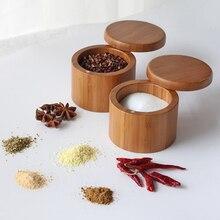 Деревянный шейкер для специй, баночка сахар, соль, перец, травы, бутылочка для хранения зубочисток специи для барбекю, ящик для хранения с крышкой для кухонных принадлежностей