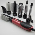 7 В 1 Автоматическая Вращающаяся Щетка Для Волос Ионные Hair Styler 220 В Профессиональный Фен
