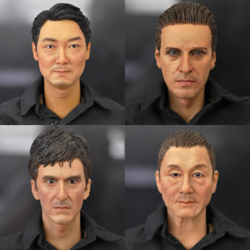 1/6 Male Head Sculpt Asian European Men's Head Carving for 12 inches Soldiers Action figures фигурка героя мультфильма 1 6 12 head sculpt