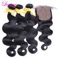 Peruvian Body Wave Silk Base Closure With Bundles,3 Bundles With Silk Base Closure,Virgin Human Hair Bundles With Silk Closures