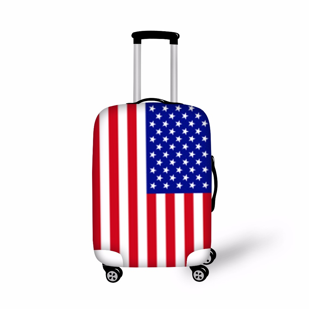 FORUDESIGNS USA UK Flag Print Covers For Trolley Suitcase ...