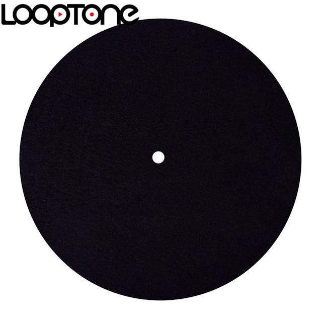 LoopTone alfombrilla de fieltro antiestática para tocadiscos, diseñada para una calidad de sonido clara y en vivo, Universal para todos los reproductores de discos de vinilo LP