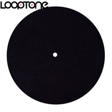 Tapis en feutre antistatique LoopTone pour platine vinyle conçu pour un son clair et vivant qualité universelle à tous les lecteurs de disques vinyles LP