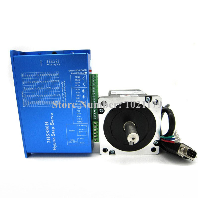 цена на NEMA34 servo motor 2HSS86H+86BH2118E-1000 Closed-loop step motor 8.5N.m Nema 86 Hybird closed loop 2-phase stepper motor driver
