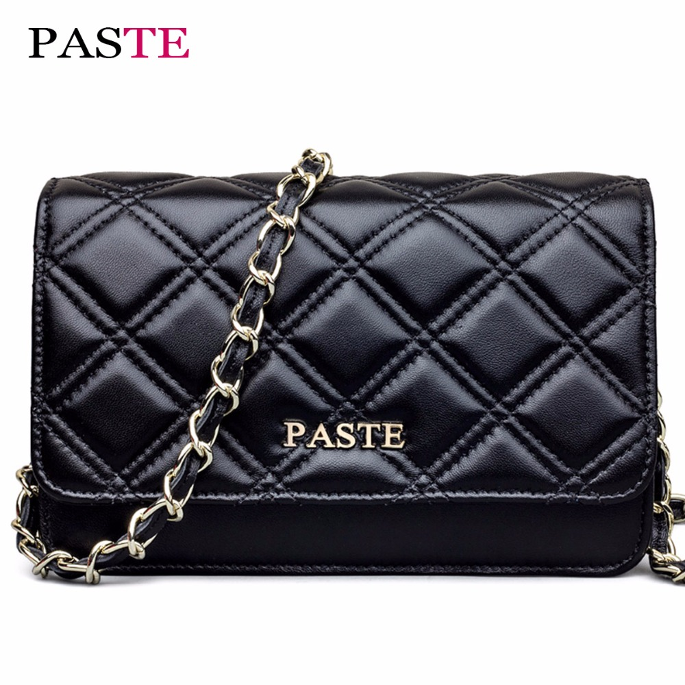 PASTE High Quality  New Genuine Leather Luxury Shoulder Handbags Women Bag Lambskin Plaid Chain Small Flap Tote/Crossbody Bags 902s remote control drone wifi fpv rc helicopter hd camera video quadcopter kids toy drone aircraft air plan toys children gift