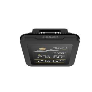 Image 4 - Baldr Wireless Weather Station Thermometer Digital Hygrometer Temperature Sensor Alarm Clock Snooze Forecast  US PLUG