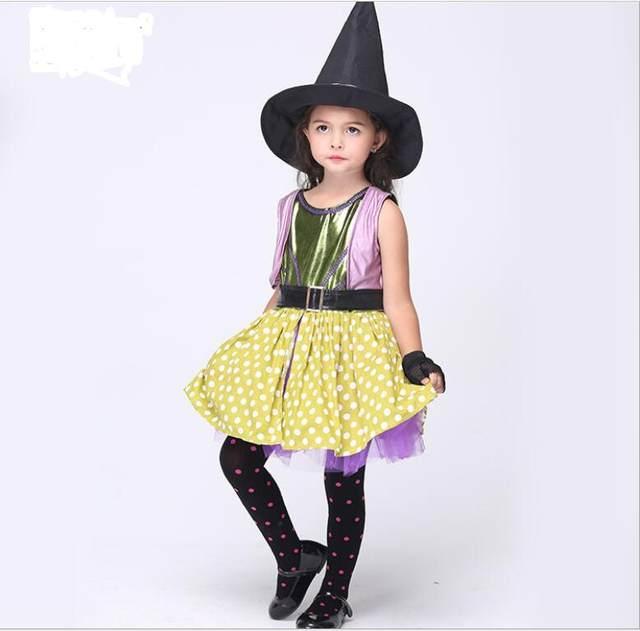 Online Shop Kids Witch Costume Fancy Dress Halloween Costumes ...