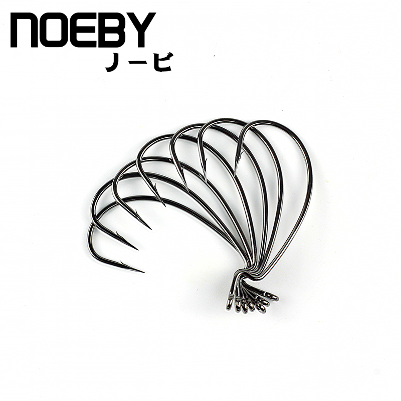 NOEBY Fishing Hook Barbed Crank Sharp Pesca for Soft Bait Tackle High-carbon Steel black color Jig Big Fish hook Bass mixed set 5 8g 13 81g classic frog mouse soft fishing lure crank bait bass tackle hook plastic crank baits double claw like hook