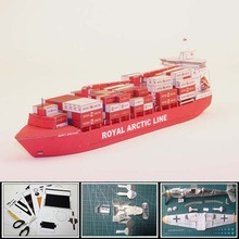 Новинка, контейнеровоз, бумажная модель, Гренландский контейнер, перевозчик, Мэри Арктика, 1:400, масштаб, длина 34 см, 3d пазлы, игрушки в подарок