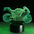 Art Deco Acrylic LED Lamps Children Bedroom Sleep Light 3D Motorcycle Table Lamp Night Light Touch Switch Bedroom Kids Gift