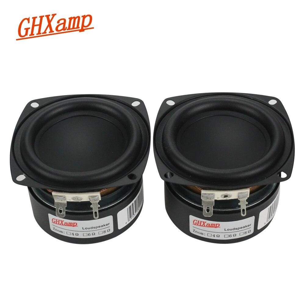 GHXAMP 3 INCH 25W Subwoofer Woofer Speaker HIFI LoudSpeaker Long Stroke Bluetooth Speakers Desktop Surround Sound DIY 1 Pairs