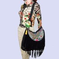 Племенной Винтаж хмонг этнических Boho Хиппи Этническая сумка, сумочка, сумка-хобо, хозяйственная сумка SYS-389C