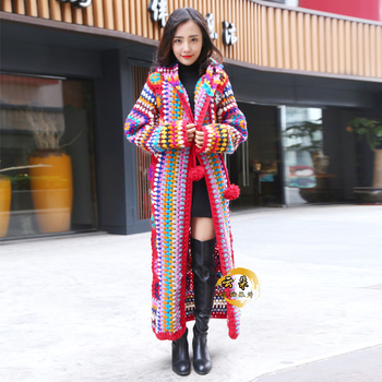 Harajuku Cardigan National Wind Female Long Coat7