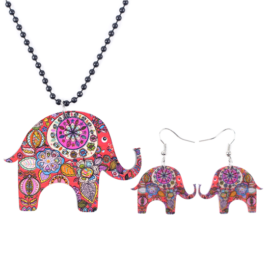 NEWEI Enamel Alloy Jungle Elephant Earrings Stud French Clip Cute Fashion Animal Jewelry For Girls Women Gift Charms