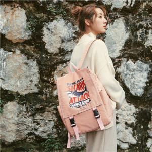 Image 3 - Street photo Japanese schoolbag female student Korean fashion couple shoulder bag male junior high school campus Backpack