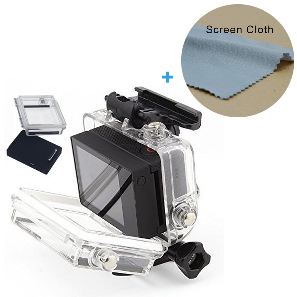 2.0 Inch LCD BacPac External Monitor Display Viewer Non-Touch Screen for Gopro Hero 4 3+ 3 with Waterproof Case gopro жк экран alcdb 401 lcd touch bacpac