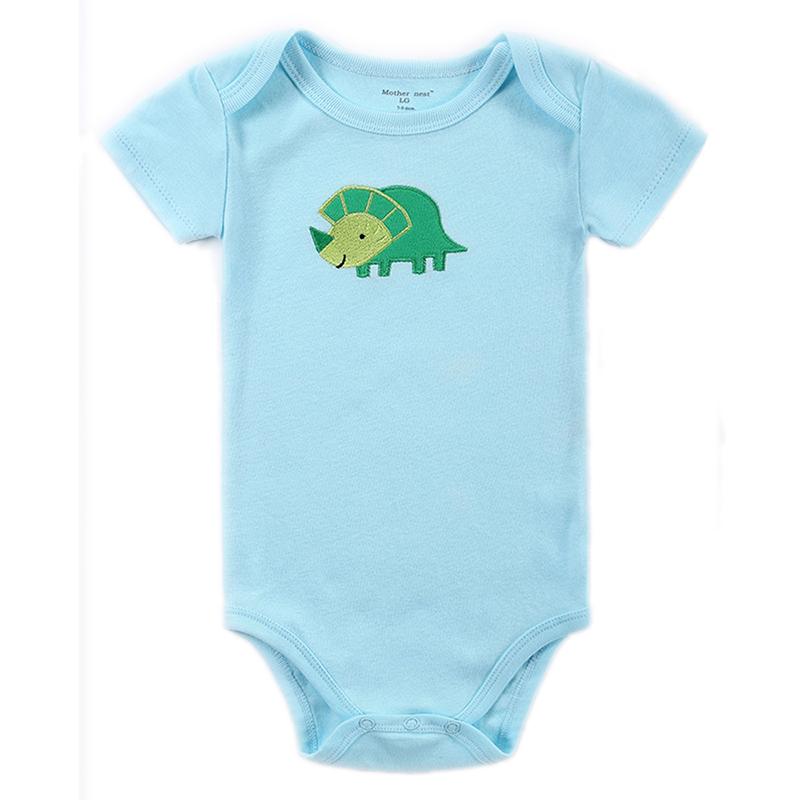 Newborn Baby Bodysuit Mother nest 2017 New Style Short Sleeve Print Little Ship Body Rope Bebe Boys Girls Clothes  (9)