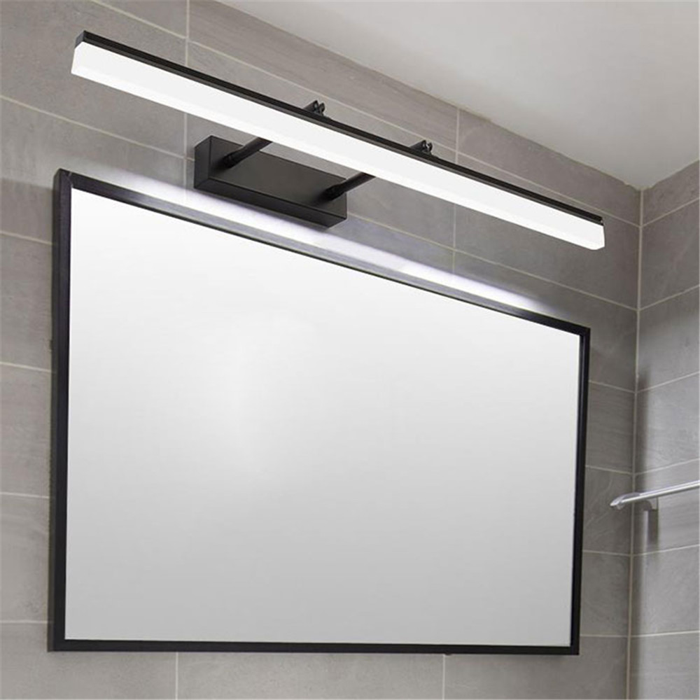 Modern L40/50/60/70/90cm Stretchable LED Vanity lights black silver chrome bathroom mirror lighting long mirror cabinet lamp luz