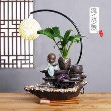 2019 Humidifier Factory Directly Sells Indoor Zen Ceramic Pipelining Ornaments Rockery Plant Ornamental Hemp Lantern Crafts