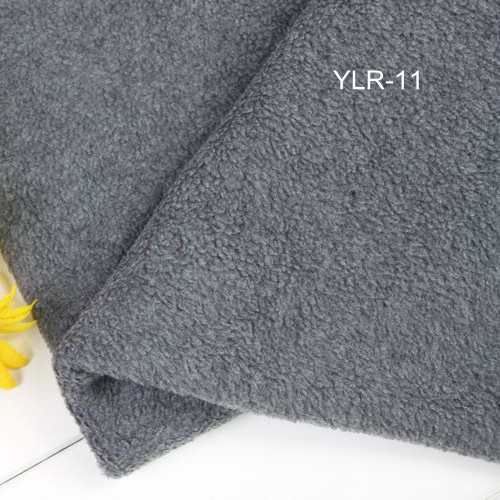 Grey Soft Polar Fleece Fabric Tissues Gray Garment