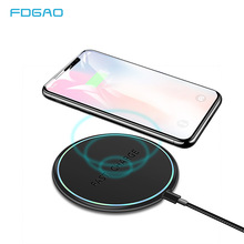 FDGAO Qi Wireless Charger For iPhone X Xs Max XR 8 Plus 10w Fast Charging Desktop USB Pad Samsung S10 S9 S8