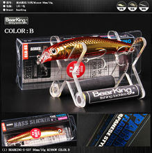 90mm/10g Bearking excellent hot good fishing lures minnow,bear king quality professional baits swimbait jointed bait Crankbait