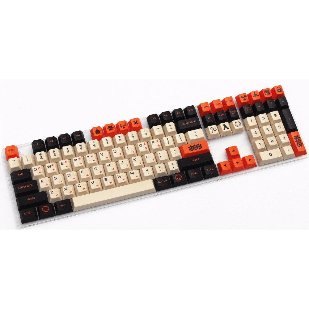 Корейская версия 124 ключей pbt большой углерода dye-сублимируется корейский Вишневый Оригинальный высота клавиши для механической клавиатуры