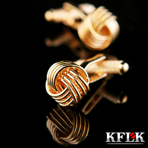 KFLK Luxury HOT shirt cufflinks for mens Brand cuff button Gold cuff links High Quality Twist gemelos abotoaduras Jewelry