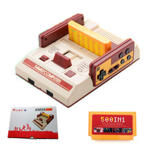 NEW 1PCS Mini D99 Video Game Console Insert 500 IN 1 Handle games FC Cards Classic Family TV Games player for Children Gifts