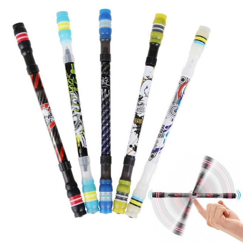 Creative Spinning Pen Rotating Gaming Ballpoint Pen Cute Kawaii Ballpens For Kids School Supplies Student 2664