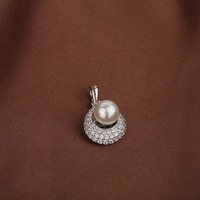 DENGYINGLUO Pure 925 Sterling Silver Pendant Natural Freshwater Pearl Pendant Fine Jewelry Gift for Women Girl