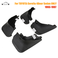 4PCS Front Rear Molded Fender Splash Guards Mud Flaps For Toyota Corolla 4 Door Sedan DX LX XE SE 1993 1997 1996 KOLEROADER /