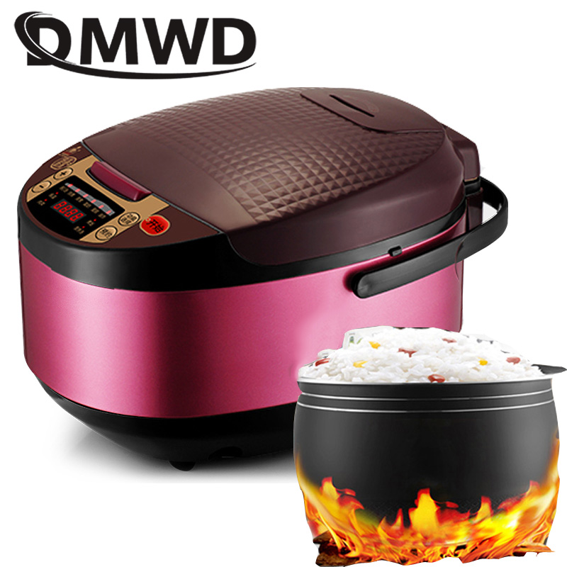 DMWD Multi-function Automatic Rice Cooker 5L Timing Non-stick Rice Cooking Pot Food Heating Steamer Soup Stew Cake Yogurt Maker цена и фото