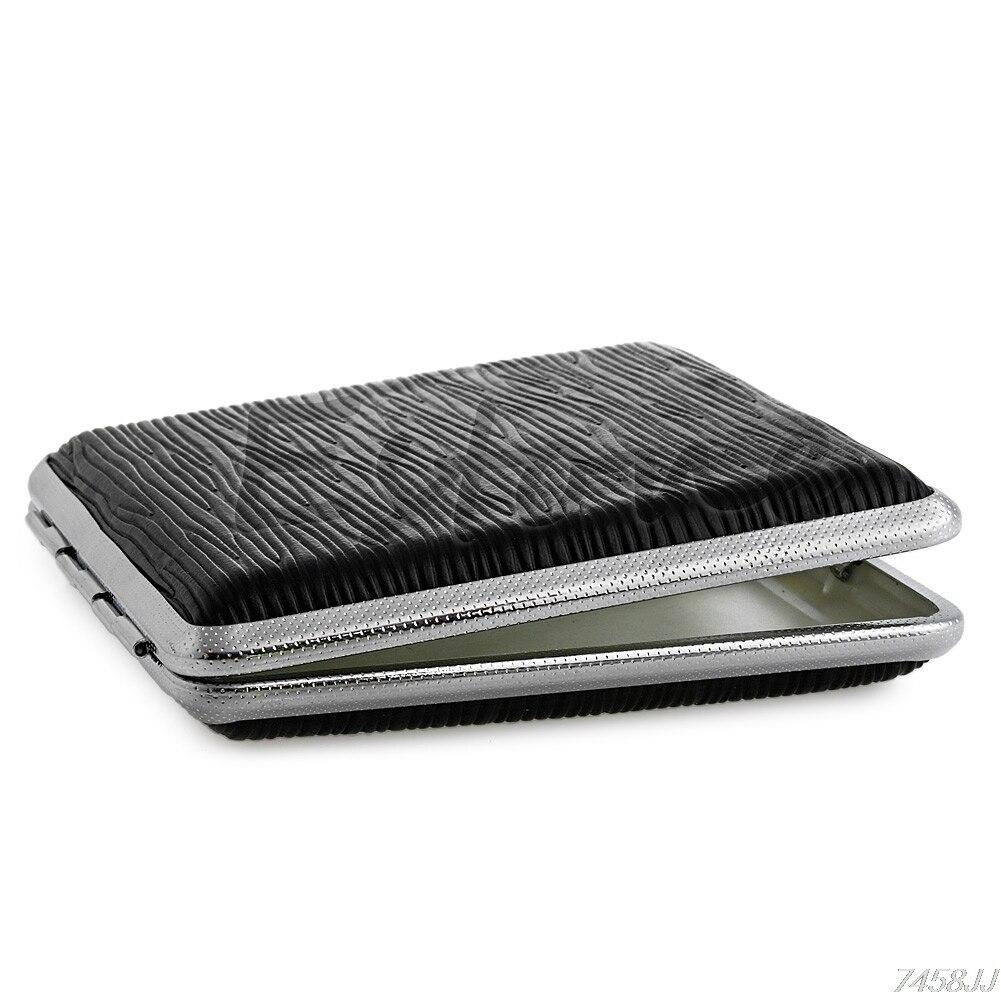 Pocket Leather Cigarette Tobacco Case Box Holder 20pcs G03 Drop ship