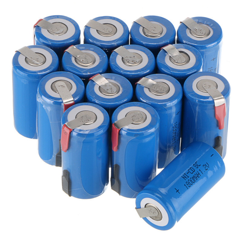 10 Pieces Lot 22 42mm Sub C SC Rechargeable Battery 1 2V 1800mAh NI CD Batteries With PCB For Electronic Tools in Replacement Batteries from Consumer Electronics