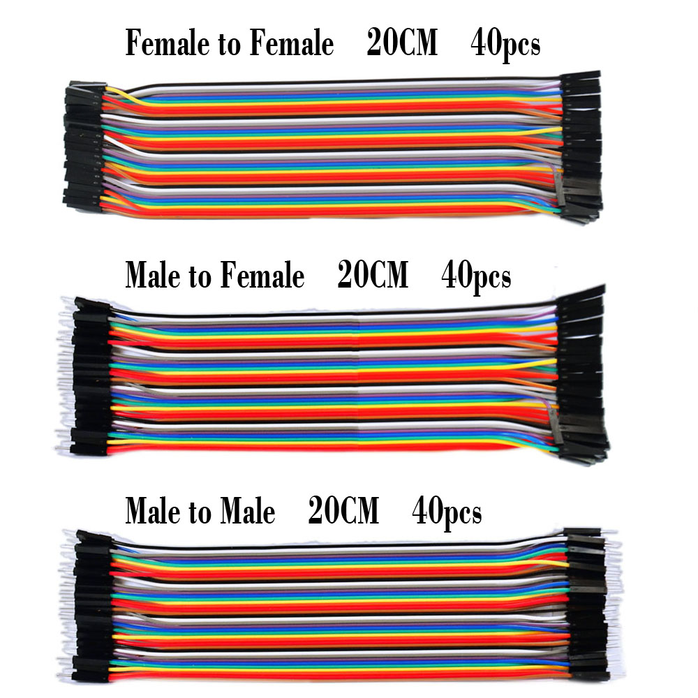 Free shipping ! Dupont line 120pcs 20cm male to male + male to female + female to female jumper wire Dupont cable for Arduino