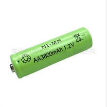 Free Shipping OOLAPR 8pcs New AA 3800mAh Rechargeable Battery AA NI-MH 1.2V Rechargeable 2A power Baterias for camera toys
