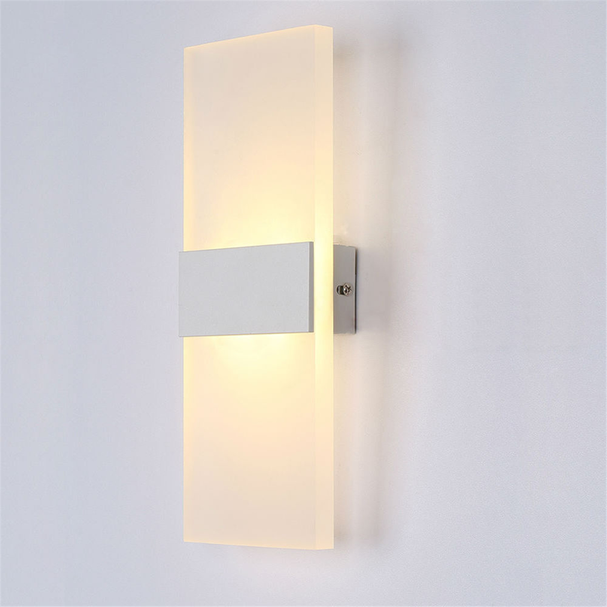 S/M/L Modern LED Round/Square Wall Light Simple Soft Bedroom Headlight Night Bedside Lamp AC100-240V Warm White Cool White
